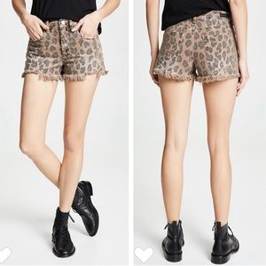 NEW Blank NYC Catwalk Denim Leopard Cutoff Shorts